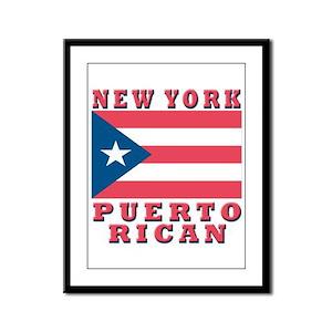 New York Puerto Rican Framed Panel Print