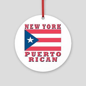 New York Puerto Rican Ornament (Round)