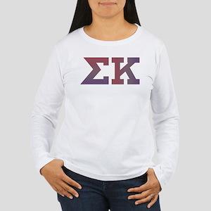 Sigma Kappa Letters Women's Long Sleeve T-Shirt