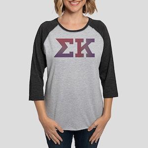 Sigma Kappa Letters Womens Baseball Tee