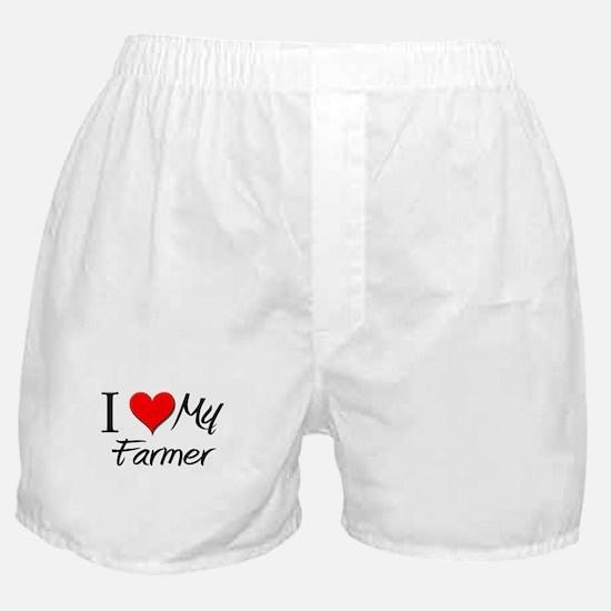 I Heart My Farmer Boxer Shorts