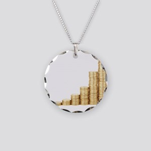 Coins Necklace Circle Charm