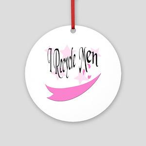 I Recycle Men Keepsake (Round)