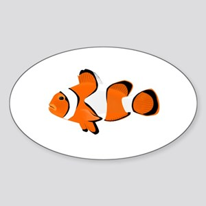 Clownfish Oval Sticker