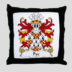 Pec Family Crest Throw Pillow