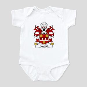 Peacock Family Crest Infant Bodysuit