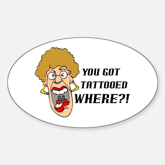 Tattooed Oval Decal