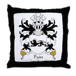 Pain Family Crest Throw Pillow