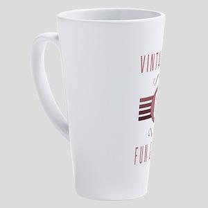 65th Birthday Vintage Chick 17 oz Latte Mug
