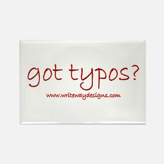 Got Typos? Rectangle Magnet