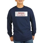 Living Up to Expectations Long Sleeve Dark T-Shirt