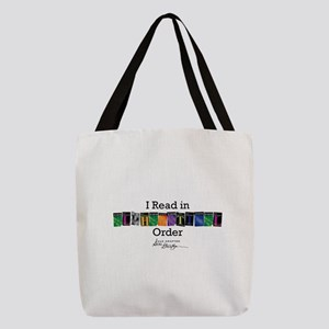 I Read in Alphabetical Order Polyester Tote Bag