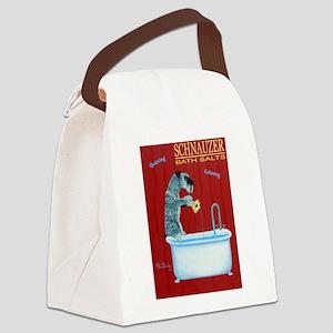 Schnauzer Bath Salts Canvas Lunch Bag