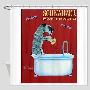 Schnauzer Bath Salts Shower Curtain