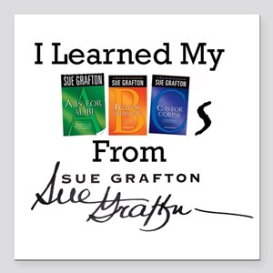 """I Learned My ABCs Square Car Magnet 3"""" x 3"""""""