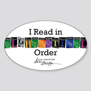 I Read in Alphabetical Order Sticker