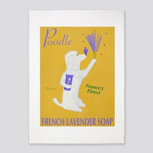 Poodle French Lavender Soap 5'x7'Area Rug
