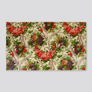 Luxury Fruit Floral Antique Area Rug