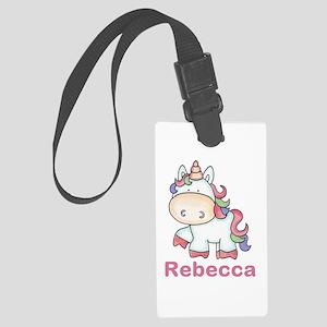 Rebecca's Sweet Unicorn Large Luggage Tag