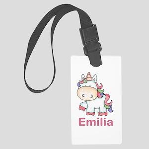 Emilia's Sweet Unicorn Large Luggage Tag