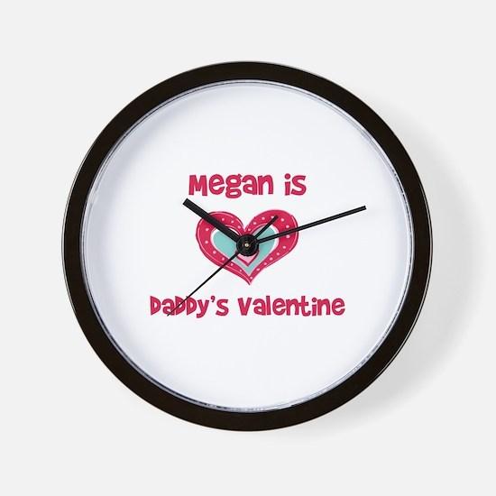 Megan is Daddy's Valentine Wall Clock