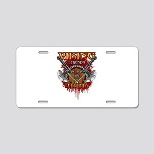 Viking Legends are Born in Aluminum License Plate