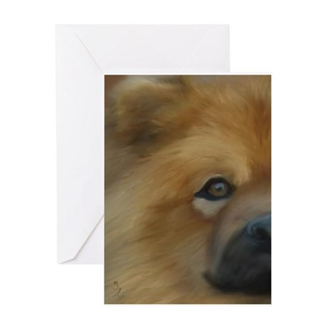 Beautiful Side View Chow Chow Greeting Card