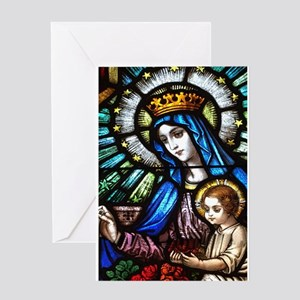 Blessed Mother Mary Greeting Cards