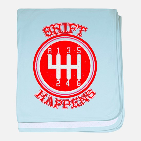 Shift Happens - Car Lover baby blanket