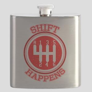 Shift Happens - Car Lover Flask