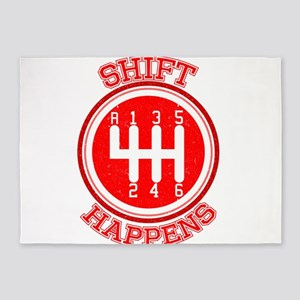 Shift Happens - Car Lover 5'x7'Area Rug