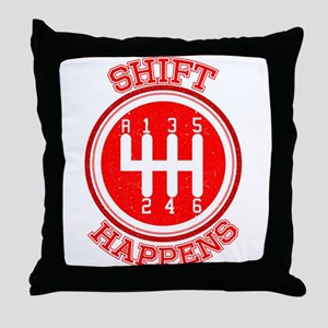 Shift Happens - Car Lover Throw Pillow