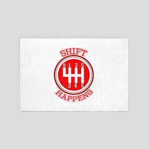 Shift Happens - Car Lover 4' x 6' Rug