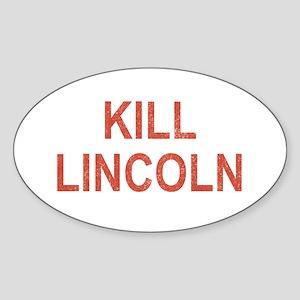 Kill Lincoln High School Oval Sticker