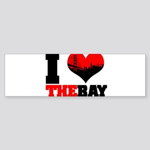 I Luv The Bay Bumper Sticker