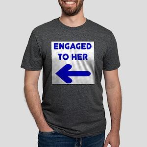 Engaged Arrow Ash Grey T-Shirt