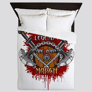 Viking Legends are Born in March Queen Duvet