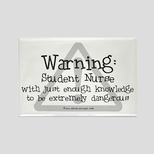 Student Nurse Warning Rectangle Magnet