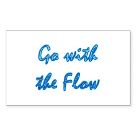 Go With the Flow Rectangle Sticker