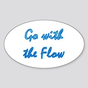 Go With the Flow Oval Sticker