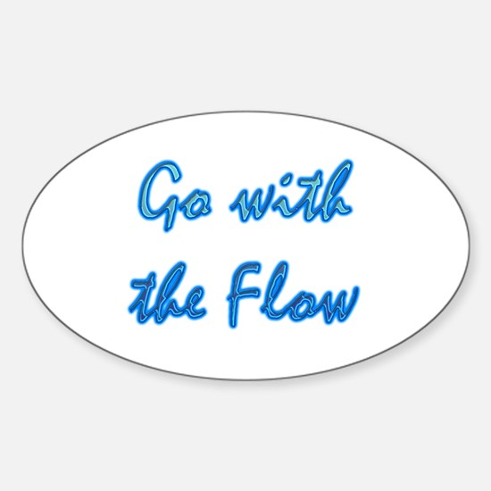 Go With the Flow Oval Decal