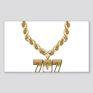 707 Gold Chain Rectangle Sticker