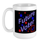 Future Voter Kids Dark Large Mug
