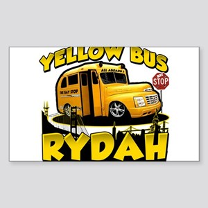 Yellow Bus Rydah Rectangle Sticker