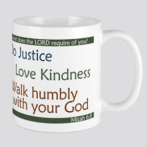 Micah 6:8 Large Mugs