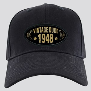 1948 Vintage Dude Black Cap with Patch