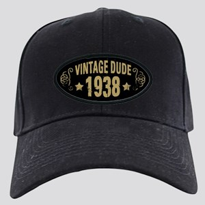 1938 Vintage Dude Black Cap with Patch