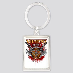 Viking Legends are Born in April Portrait Keychain