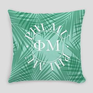 Phi Mu Leaves Everyday Pillow