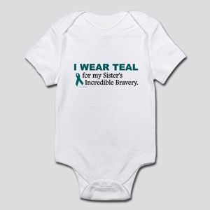 Teal For My Sister's Bravery 1 Infant Bodysuit